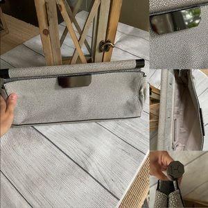 Halston Heritage Grey Clutch